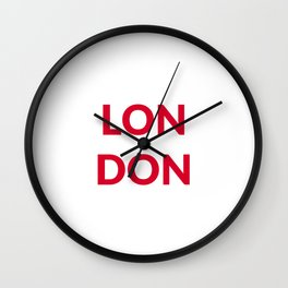 LONDON red Wall Clock
