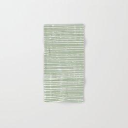 Abstract Stripes, Sage Green, Boho Wall Art Hand & Bath Towel