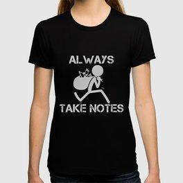 Lustiges Musiklehrer Chorleiter Musiker Geschenk Musiknoten T-shirt