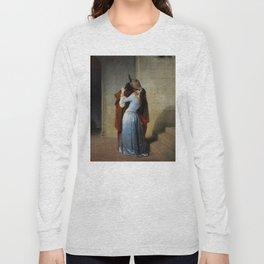 The Kiss (Il Bacio) - Francesco Hayez 1859 Long Sleeve T-shirt