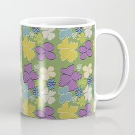 Green Bright Blooms Coffee Mug