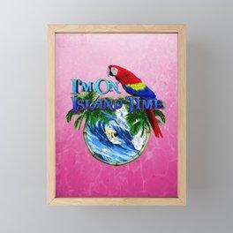Pink Island Time Surfing Framed Mini Art Print