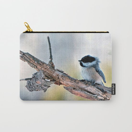 Chickadee Against the Wind Carry-All Pouch