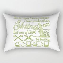 Skiing Gigi Rectangular Pillow