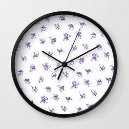 Sometimes I Scribble Wall Clock