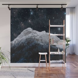 Mountains Attracts Galaxy Wall Mural