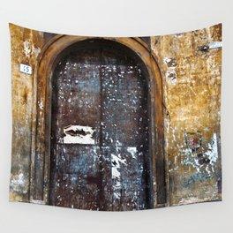 Old Sicilian door of Catania Wall Tapestry