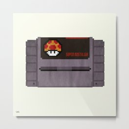 Nostalgia in a Super Nintendo Cartridge Metal Print