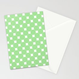 Light Green Octagon Seamless Pattern  Stationery Cards