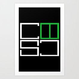 Creatively Syk Designs logo Art Print