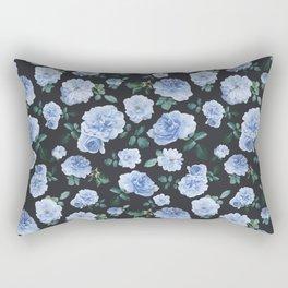Blue Roses Flower pattern Rectangular Pillow