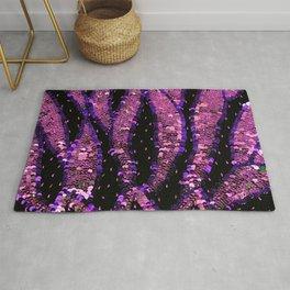 Hot Pink Purple Sequin Rug