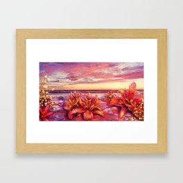 Radioactive flowers Framed Art Print
