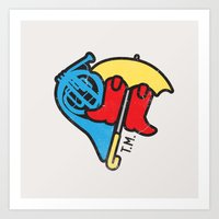 himym Art Prints featuring Hey Beautiful by Reg Lapid