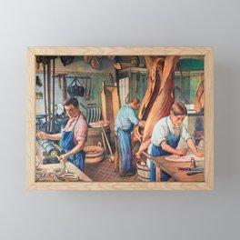 Sausage factory Framed Mini Art Print
