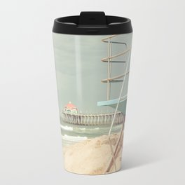 Huntington Beach California Vintage Travel Mug