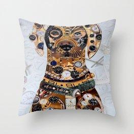 Steampunk Dog Throw Pillow