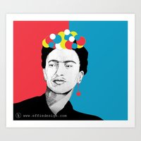frida khalo Art Prints featuring frida khalo by Effiedesign