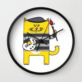 Pablo Meow-Casso Wall Clock