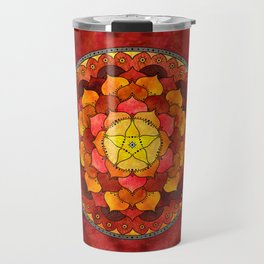 Star Mandala Flame Travel Mug