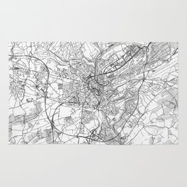 Luxembourg Map Line Rug
