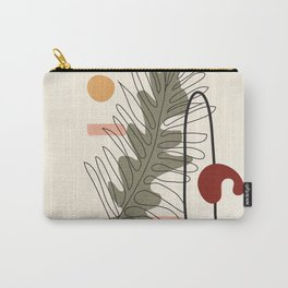 Minimal Line Palm Carry-All Pouch
