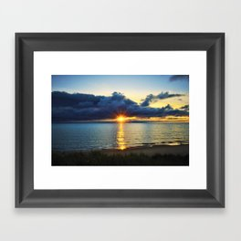Hallowed Eve's Sunset Framed Art Print