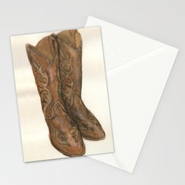 Watercolor Cowboy Boots Stationery Cards