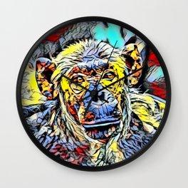 Color Kick - Chimp Wall Clock