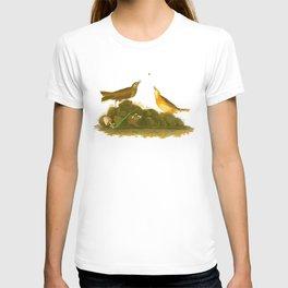 Brown Lark Bird T-shirt