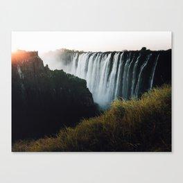 Zambia Waterfall at Sunset Canvas Print