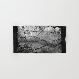 Old Metal Map Hand & Bath Towel