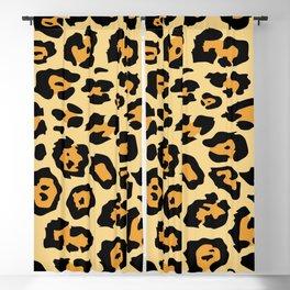 safari animal brown and tan cheetah leopard print Blackout Curtain