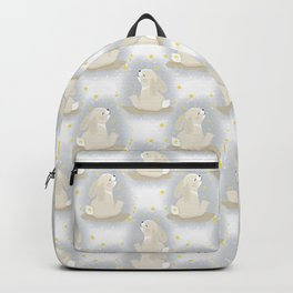 Cute Bunny and gold stars. Backpack