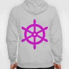 Ship Wheel (Magenta & White) Hoody