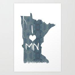 I LOVE MN Art Print