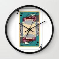 rap Wall Clocks featuring rap king by Red Monkey