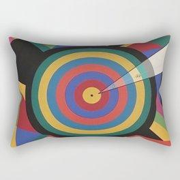 Color circles geometric Into the Cosmos earth Rectangular Pillow