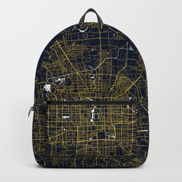 Beijing City Map of China - Gold Art Deco Backpack