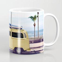 Surfer's Yellow Van Coffee Mug