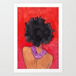 Shy N Topless Art Print
