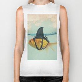 Goldfish with a Shark Fin Biker Tank