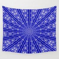 chakra Wall Tapestries featuring Chakra Mandala (lapis blue) by NatalieCatLee