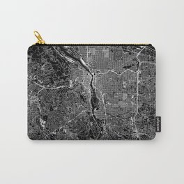 Portland Black Map Carry-All Pouch