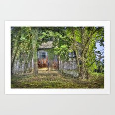 Abandoned Stables Art Print