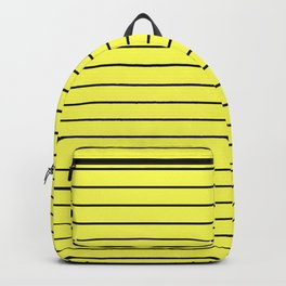 Black Lines On Yellow Backpack