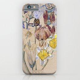 Charles Rennie Mackintosh  -  Mont Louis Flower iPhone Case