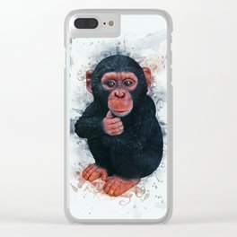 Chimpanzee Art Clear iPhone Case