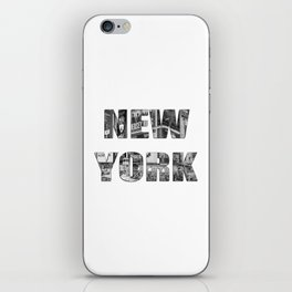 New York  B&W typography iPhone Skin