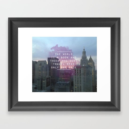 Travel Framed Art Print